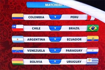 Chile será primeiro rival da Seleção Brasileira rumo ao Mundial de 2018
