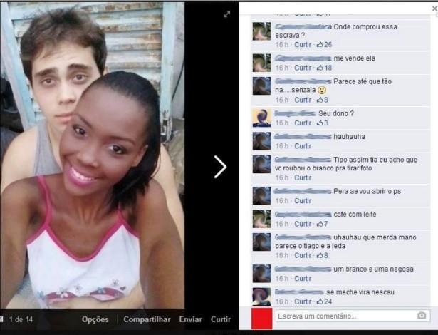 Jovem negra coloca foto com namorado branco no Facebook e sofre racismo