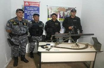 PRF apreende metralhadora antiaérea avaliada em R$ 100 mil no Maranhão