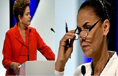 Dilma e Marina trocam farpas durante debate em TV