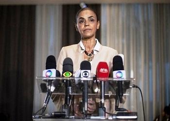 Eleições 2014:Marina Silva anuncia apoio a Aécio Neves