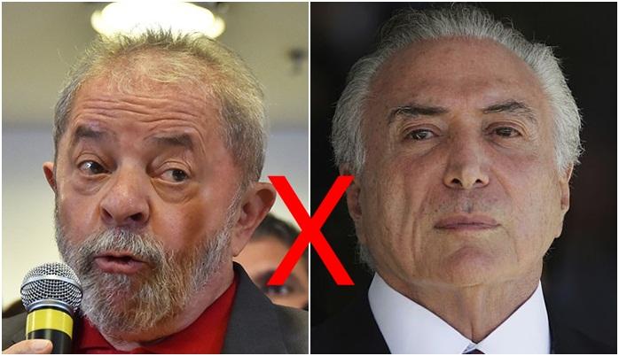 """Lula diz que Temer é uma """"margem de erro"""""""
