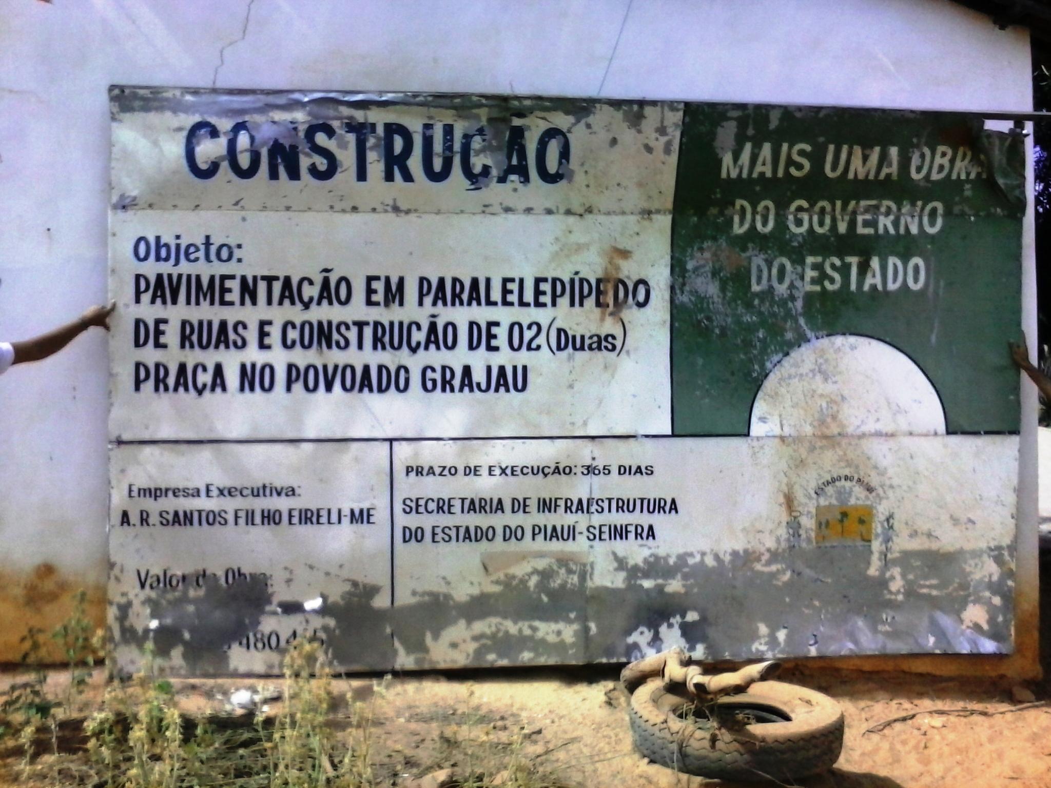 Obra de pavimentação do Grajau já consumiu quase 90% dos recursos e apenas 25% executada