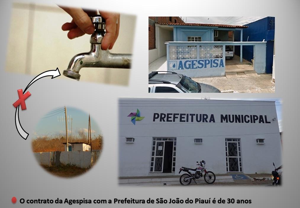 SJP:População paga 2 vezes por consumo de água; contrato com a Agespisa é de 30 anos