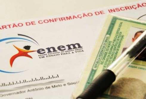 Prazo para isenção da taxa de inscrição do Enem começa na segunda-feira
