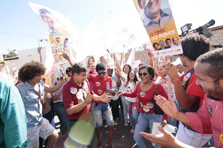 Governador Wellington Dias fez caminhada nesta segunda pelos quatro municípios