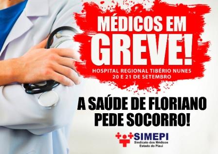 Médicos deflagram greve em protesto contra atraso salarial
