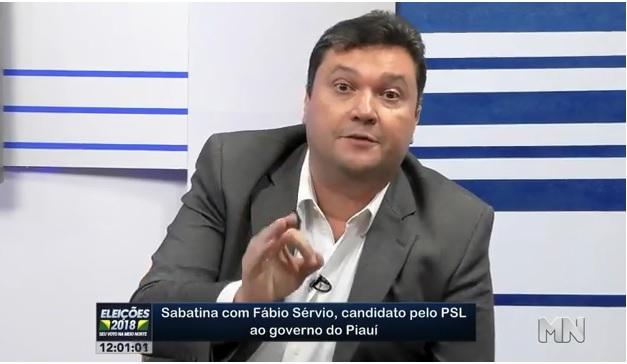 Fábio Sérvio diz que TV Meio Norte recebe R$ 1,7 milhão do governo para se calar