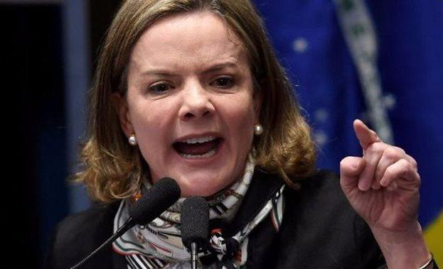 Gleisi Hoffmann critica ajuda à Venezuela e afirma que Brasil se submete aos EUA
