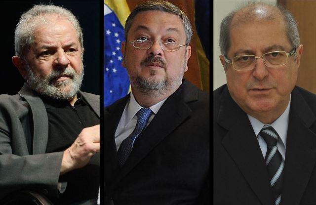 Lula, Palocci e Paulo Bernardo viram réus na Justiça Federal do DF