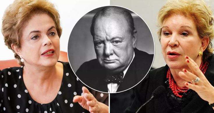 Dilma cita Churchill para condenar reaproximação entre o PT e Marta Suplicy
