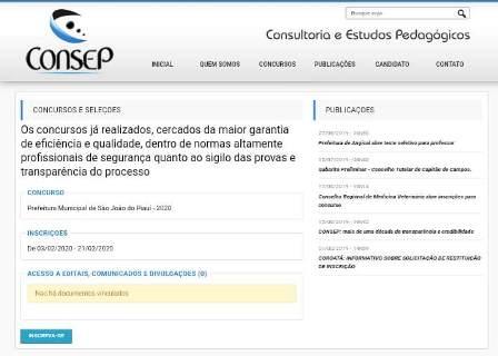 Ausência de edital no concurso da Prefeitura de São João do Piauí