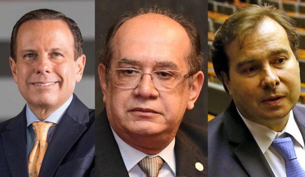 Doria, Gilmar e Maia veem escalada de 'autoritarismo' no Planalto