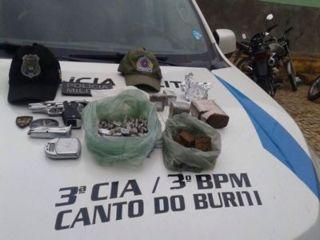 Polícia Militar desarticula rede de tráfico de drogas em Canto do Buriti