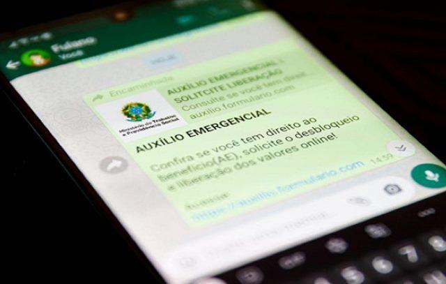 Link falso para cadastro de auxílio de R$ 600 é enviado para 6,7 mi