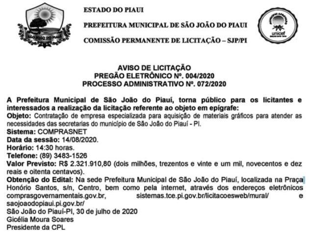 Gestão Gil Carlos quer gastar R$2,3 milhões com material gráfico em plena pandemia
