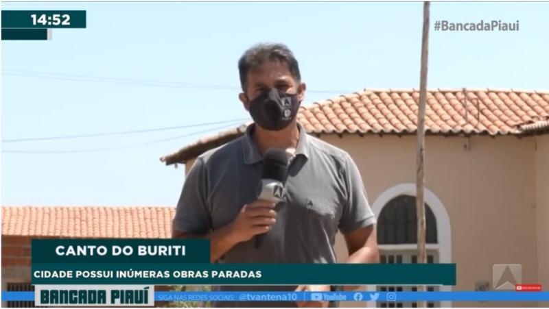 Reportagem da TV Antena 10 mostra o município de Canto do Buriti abandonado