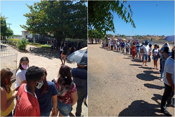 'Fila quilométrica' marca retorno para 2ª dose de vacina em São João do Piauí